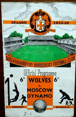Wolves V Moscow Dynamo 9/11/1955 Floodlight Friendly