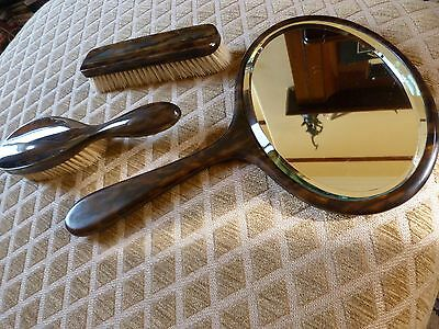 Vintage Ladies Dressing Table Brushes and Mirror