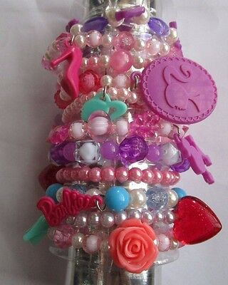 Set of Girls Barbie Bracelets-11 in set