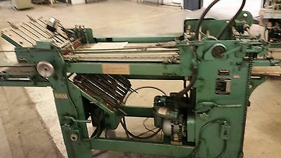 Baum Paper Folder With Pile Feeder Model 17x22 With Right Angle