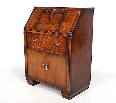 Oak Bureau Antique Vintage Writing Bureau Desk Fine Quality
