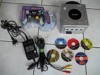 console nintendo game cube complete + 6 jeux