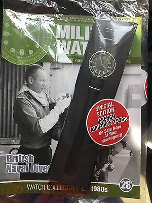 Eaglemoss Military Watches Issue 28 BRITISH NAVAL DIVER new Sealed In Bag
