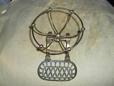 Antique brass soap dish with sponge holder (For iron tub)