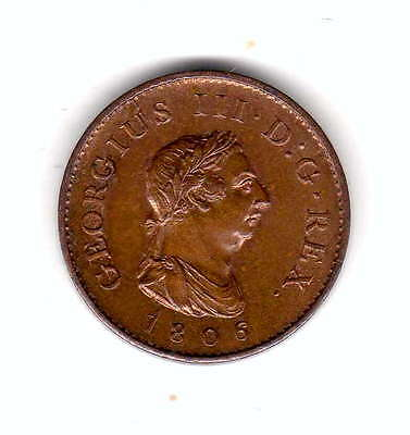 gb 1806 farthing about brilliant uncirculated ,rare in this grade