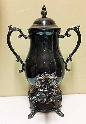 Vintage FB Rogers Silverplated Samovar Coffee Tea Urn Hot Water Pot