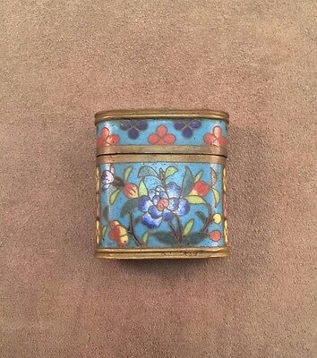 19th Century Cloisonne Opium Box Qing Dynasty