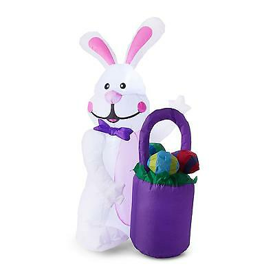 Xl Big Bunny Easter Celebration Party Decoration Theme Animal 3 Led 1.25M Blower