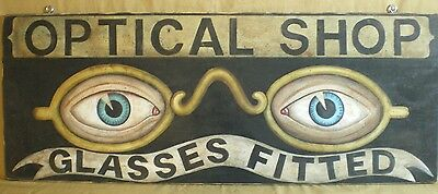 Primitive Optical wood advertising sign-Large-Jenny Salsini