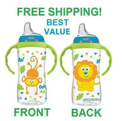 Learner Sippy Cup Baby 10 Ounce Spill Proof Toddler Feed Training BPA Free NUK