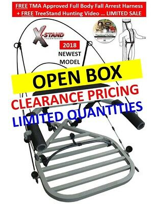 New 2018 Model X-Stand Treestand X-1 XSCT314 Climbing Stand + Fall Harness. SALE