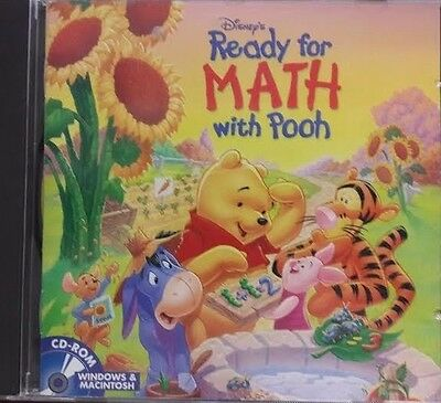 DISNEY'S READY FOR MATH WITH POOH (2001) PC/MAC CD-ROM Brand New,  Sealed  #N2
