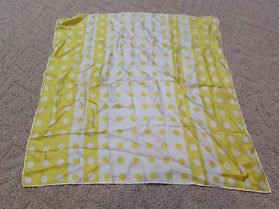Vintage Yellow Echo Scarf