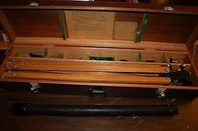 Vintage Telescope Spi Southern Precision Instrument With Wooden Case