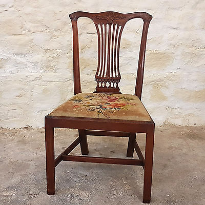George III Mahogany Dining Chair C1810 (Georgian Chippendale Antique)