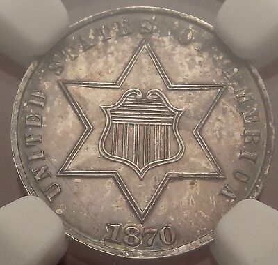 1870 3cS NGC PF62 ~ Better Date Three Cent Silver Proof