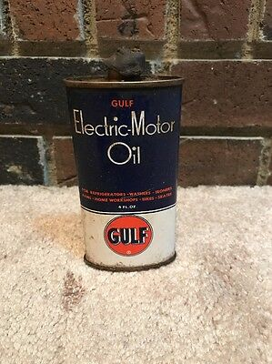 Early Gulf electric Motor Oil 4 Oz Can Pittsburgh Pa Gas Oil