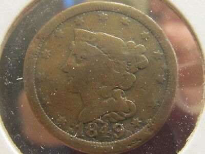 Rare F+ 1849 Braided half cent ... only 40,000 made ( ddc )
