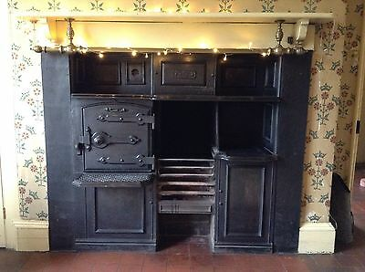 Antique Cast Iron Range Fireplace