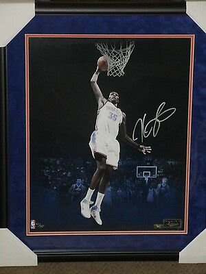 "KEVIN DURANT Signed ""DUNK"" 16 x 20 Photograph LE 50 PANINI FRAMED AUTO MINT"