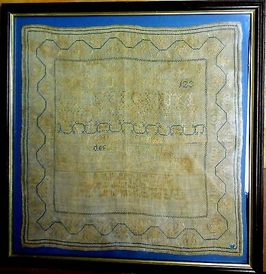 Antique 1834 American Sampler Connecticut Evelyn Jones 20x19 with Verse
