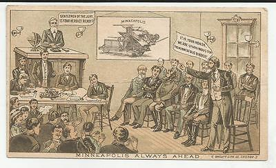 Victorian Trade Card Minneapolis Standard Binder Old Reliable Harvest Works
