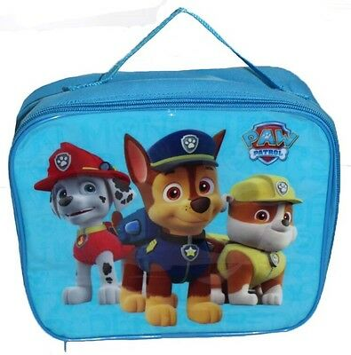 Paw Patrol School Lunch Bag Insulated travel Blue Picnic Kids Food Drink Bag