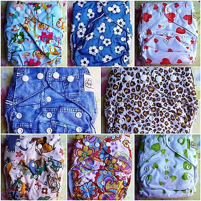 Adjustable Nappy ~ Diaper ~ Assorted Designs ~ Free Insert ~ Free Post ~ New