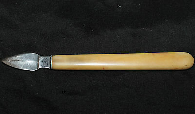 Antique Ink Eraser Knife bone handle Rodgers Cutlers to His Majesty Sheffield