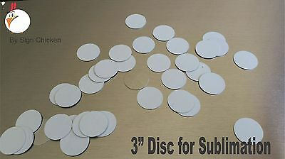 "3"" CIRCLE - DISC for Dye Sublimation  / .025 gauge aluminum / disc - Lot of 30"