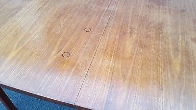 Vintage 1950's Jens Risom Walnut Boat Dining Table Mid Century Danish Modern