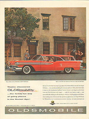 1958 Oldsmobile car ad Jerry Lewis Movie star ad endorses  --/883