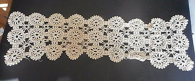 "VICTORIAN circa 1900 LACE DOILY Table Runner 35"" x 10"""