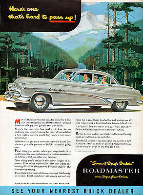 1951 Buick Car Ad --Roadmaster With Dynaflow Drive ---z257