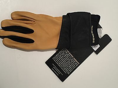 10 Size Right Heritage Pro 8.0 Bull Riding Glove Deer Skin Leather Natural Tan