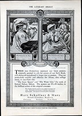 """1909 Hart Schaffner & Marx ad --clothing ad  """"Good Clothes Makers"""" --/84"""