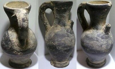 *ice* Holy Land Iron Age Pottery Ewer With Black Slip  1200-800 Bc