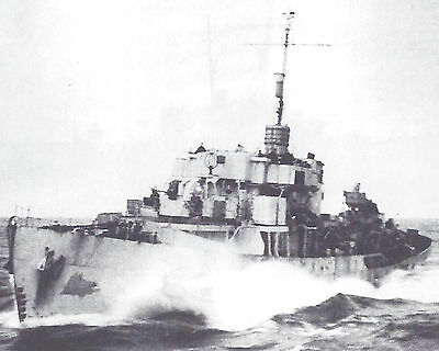 Royal Canadian Navy Corvette Hmcs Guelph K687 With Stats And History Sheet