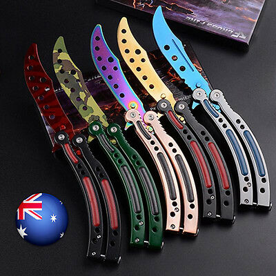 Balisong CSGO Butterfly Folding Knife Trainer Training Practice Metal Steel Tool