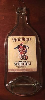 Captain Morgan Flattened Spiced Rum Bottle Key West Wall Hanging Spoon Rest