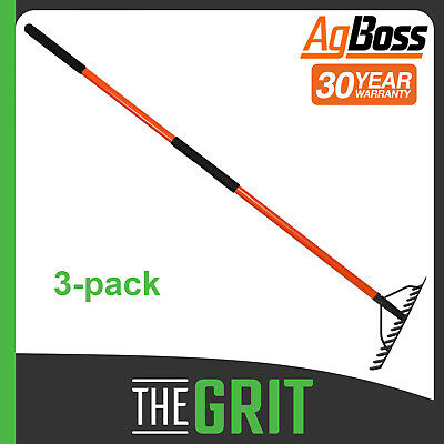 AgBoss 14 tooth Landscaping Rake For Garden Soil Mulch Leaves