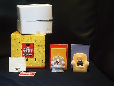 """Hallmark Peanuts Limited """"by The Book"""" Bookends Snoopy Charlie Brown ~ Nib!"""