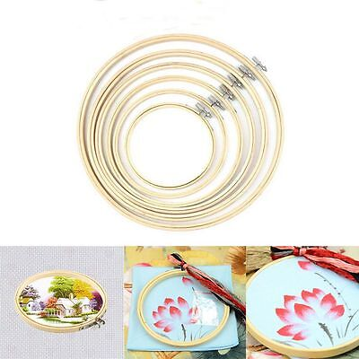 Cross Stitch  Hoop Ring Bamboo Frame DIY Art Craft Accessories Sewing Tool