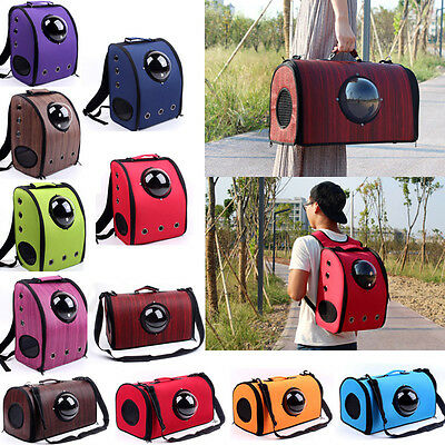 Pet Backpack/Shoulder Transparent Breathable Dog Cat Travel Puppy Carrier Bag