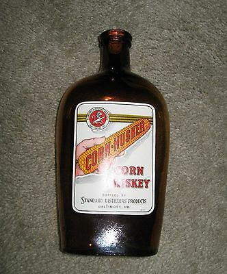 1941 Baltimore Maryland Corn Whiskey Husker Standard Distillers Bottle