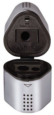 BRAND NEW Faber-Castell Grip Trio Pencil Sharpener, Silver