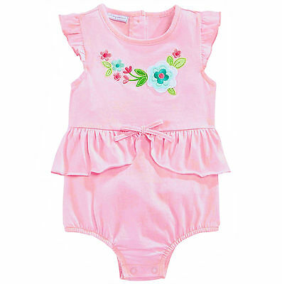 First Impressions 6-9 Months Pink Flower Sunsuit Romper NWT Baby Girl Clothes