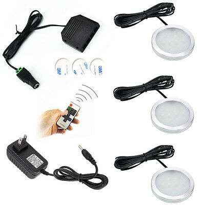 AIBOO LED Under Cabinet Lighting Kits,Dimmable Under Counter Lighting Puck Light