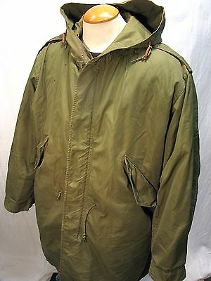 Vintage Rare Korean War Era U.S. ARMY M1951 M51 Fishtail Parka with Liner Sz M