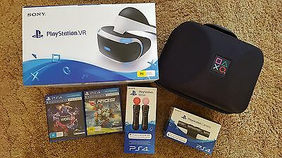Playstation VR INCLUDING Motion Controls, 2 Games, Case & Camera!